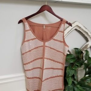 Teracota Top with Sequins by Loft size Medium